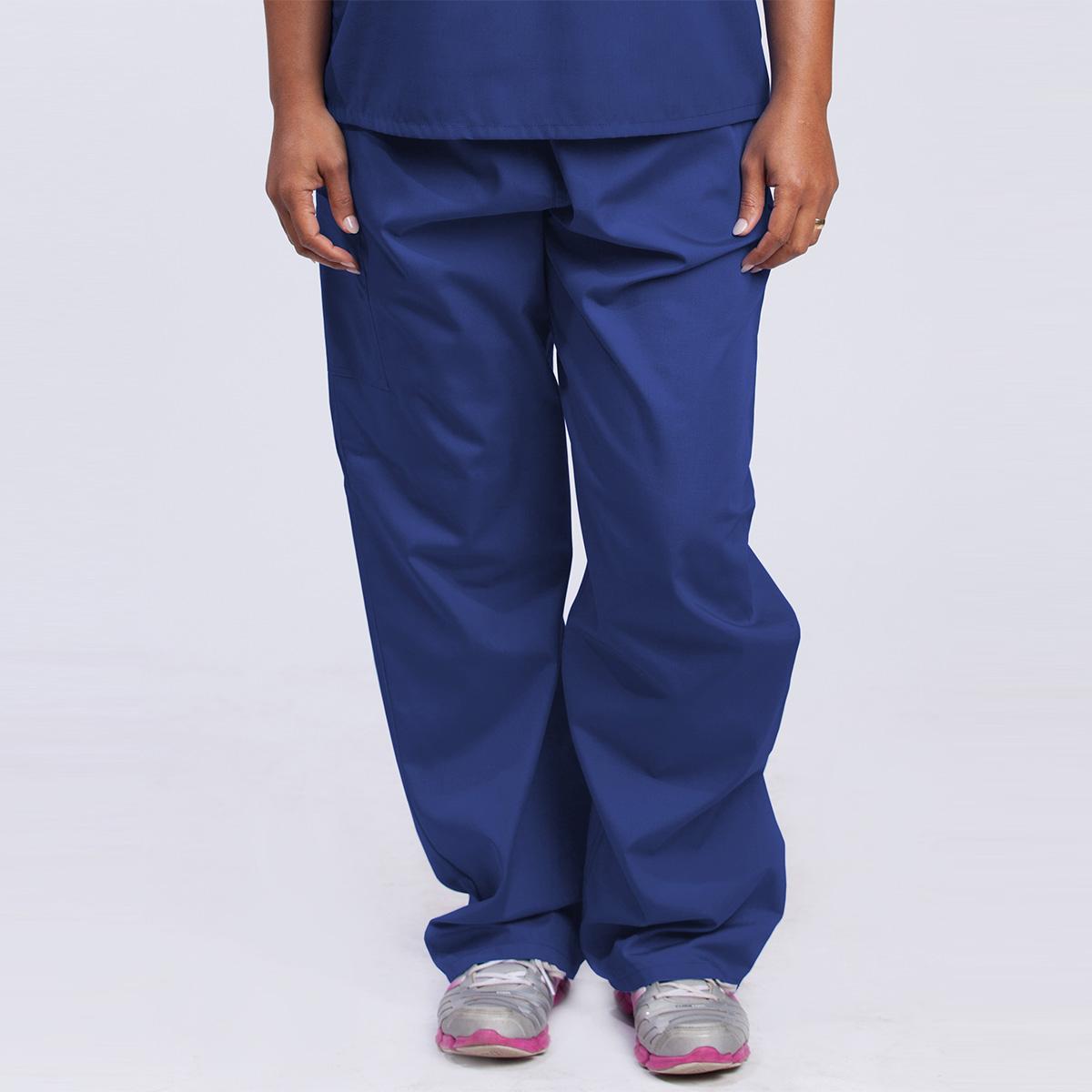 Reversible-Scrub-Womens-pants-royal-front