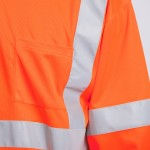 Class-III-Shirt-Long-Sleeve-Performance-Fabric-orange-close-up