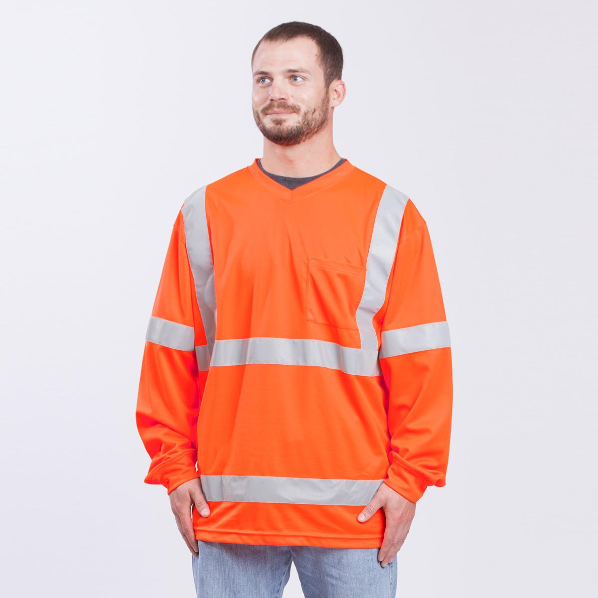 Class-III-Shirt-Long-Sleeve-Performance-Fabric-orange-front