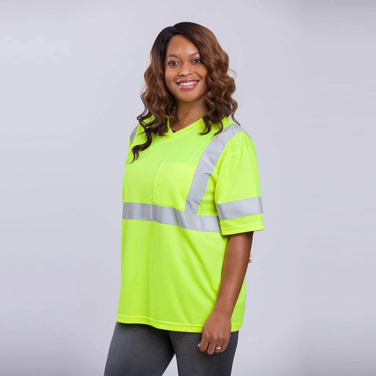 Class-III-Shirt-Long-Sleeve-Standard-Mesh-yellow-front
