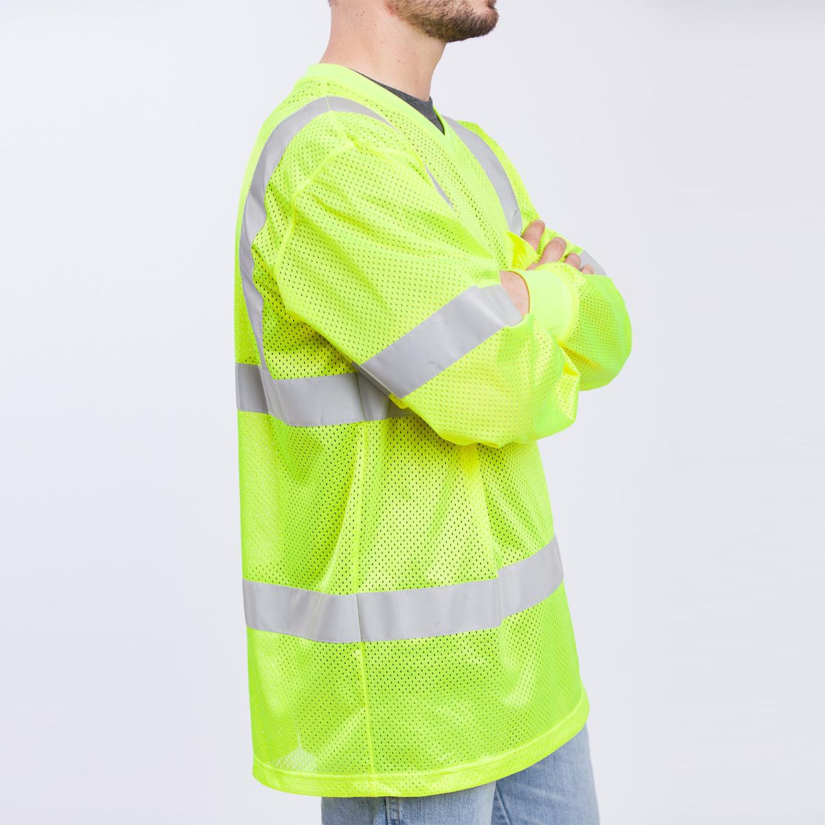 Class iii long sleeve standard mesh shirt edgar james for Mesh long sleeve t shirt