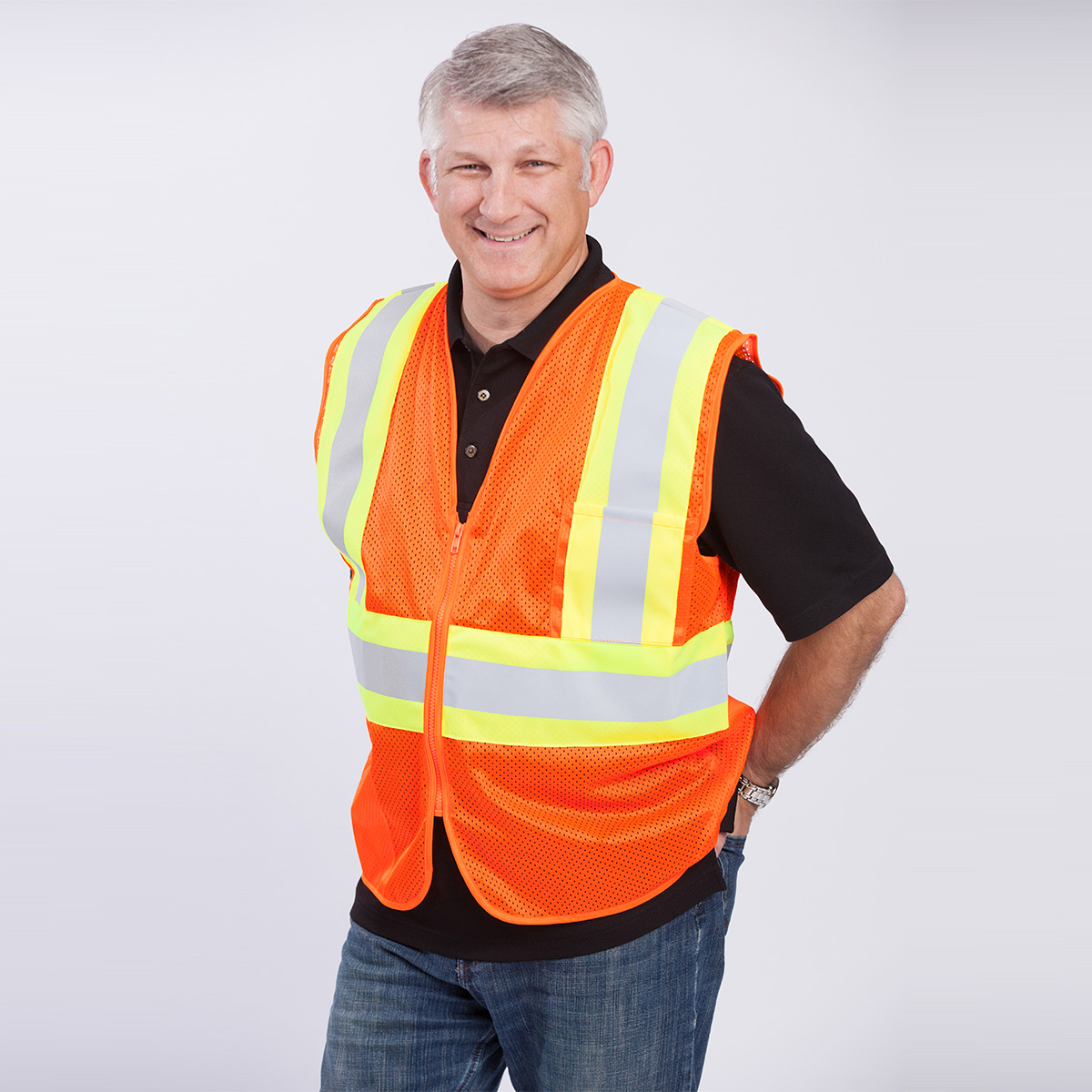 Classic-Class-II-Safety-Vest-orange-front