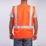 Standard-Class-II-Vest-Solid-orange-back