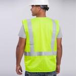 Standard-Class-II-Vest-standard-mesh-yellow-back