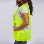 Standard-Class-II-Vest-standard-mesh-yellow-side