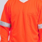 T-Shirt-Long-Sleeve-Performance-Fabric-orange-close-up
