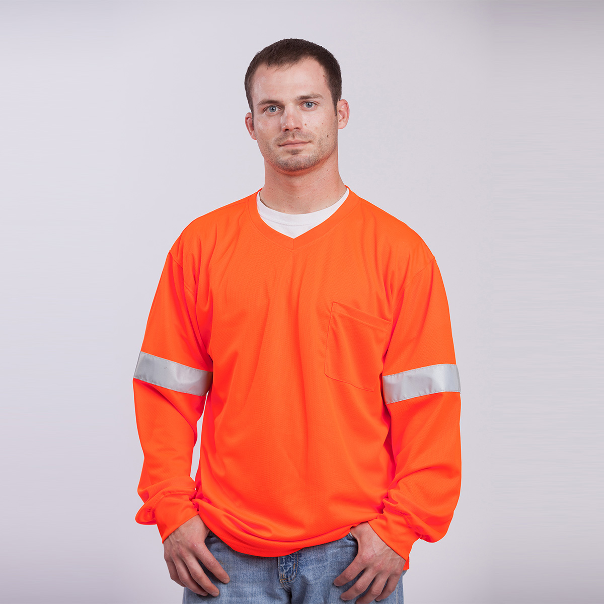 T-Shirt-Long-Sleeve-Performance-Fabric-orange-front