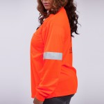 T-Shirt-Long-Sleeve-Performance-Fabric-orange-side