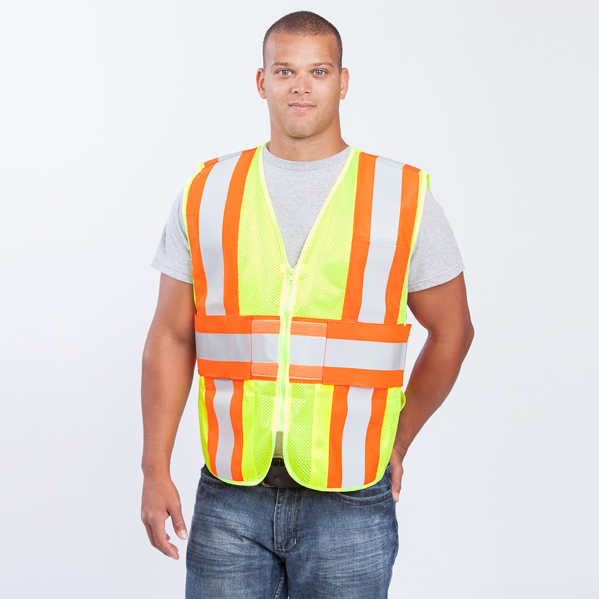 safety-adjustable-safety-vest-yellow-front