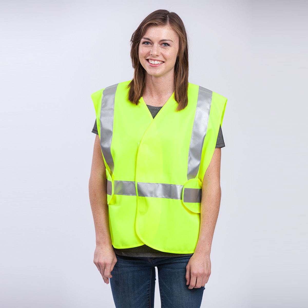 class-II-5-point-breakaway-vest-solid-yellow-front