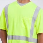 class-II-shirt-short-sleeve-Performance-Fabric-yellow-close-up