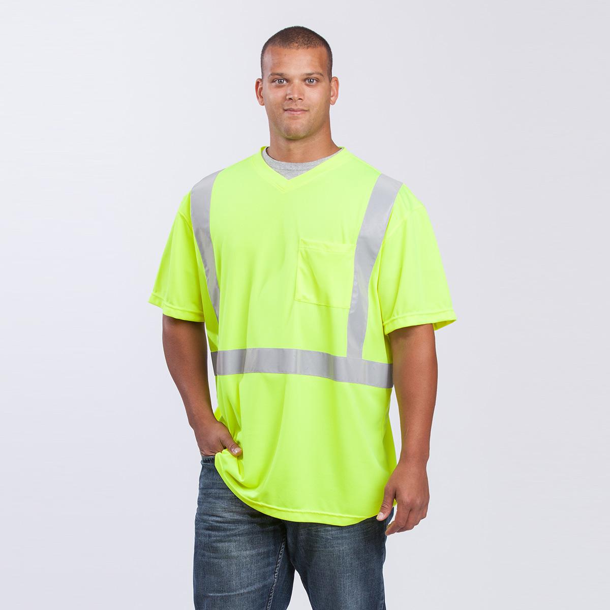 class-II-shirt-short-sleeve-Performance-Fabric-yellow-front