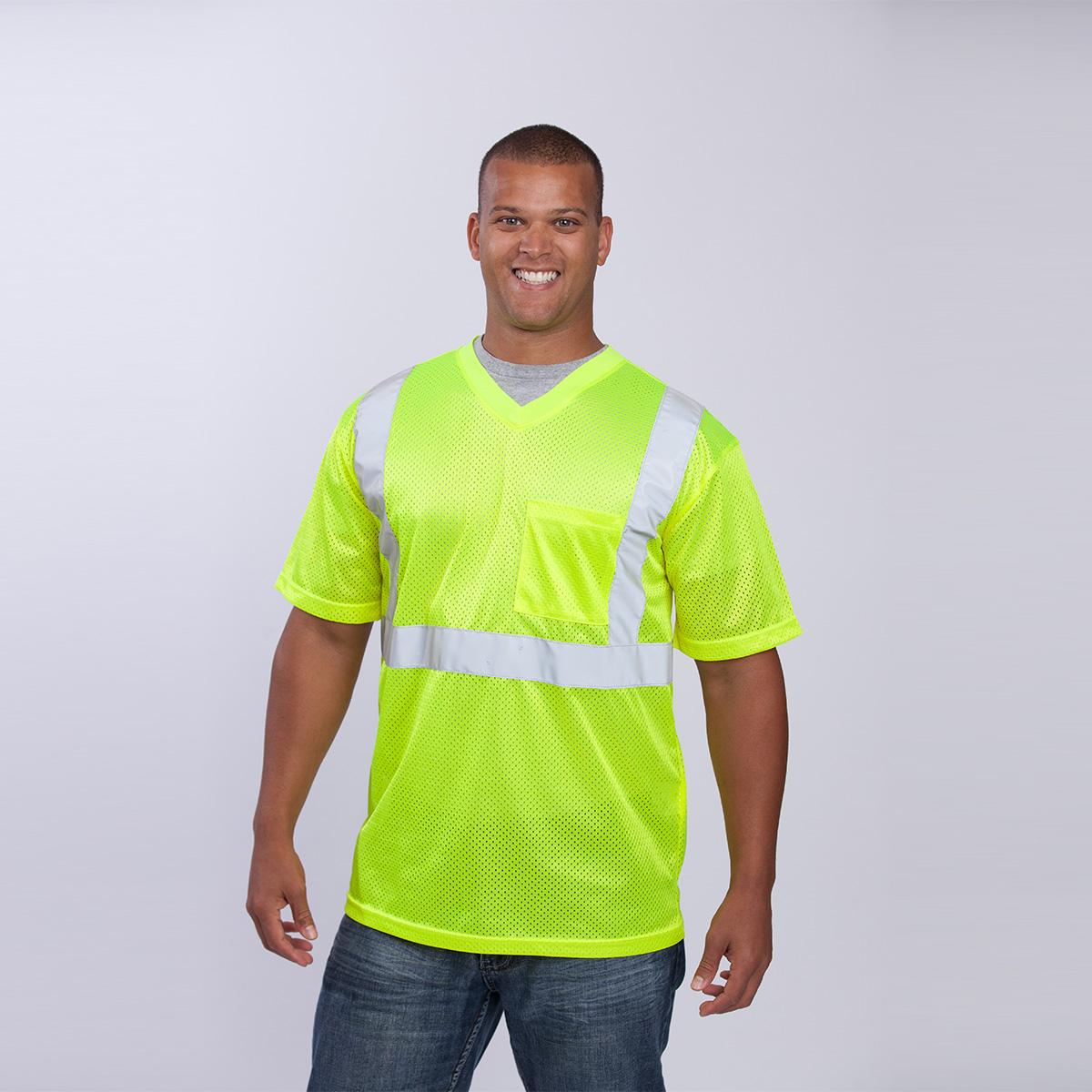 class-II-shirt-short-sleeve-standard-mesh-yellow-front