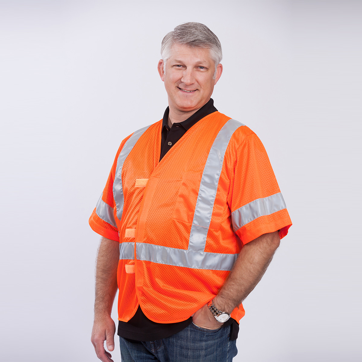 class-III-professional-vest-orange-front