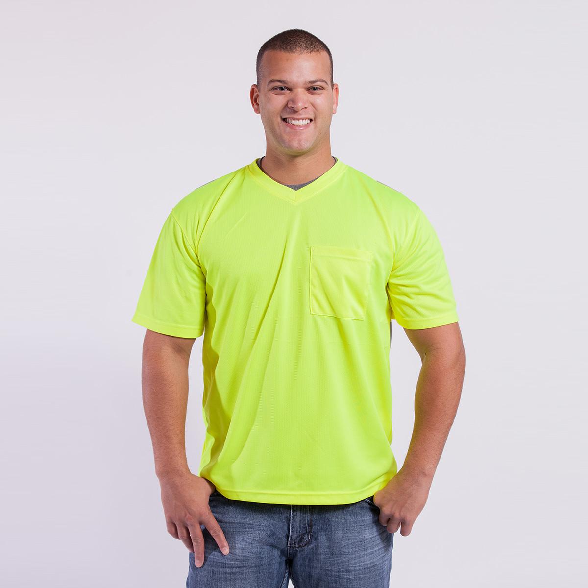 T-Shirt-Short-Sleeve-Performance-Fabric-yellow-front
